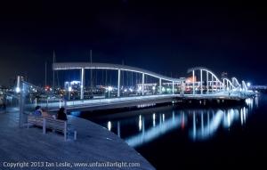 20061010 10345 Barcelona Olympic Warf at night.jpg